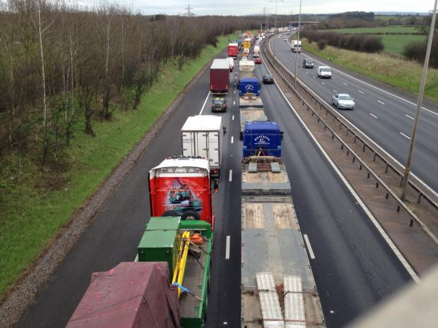 Traffic chaos: Drivers' misery in M5 closure